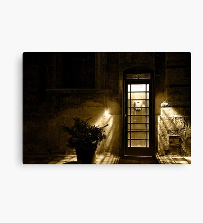 phone booth Canvas Print