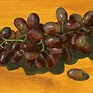 seedless and boneless red grapes by bernzweig