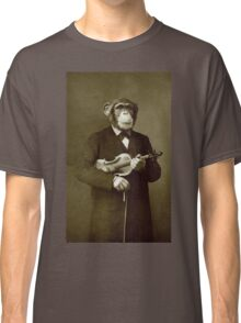 Chimp with a violin Classic T-Shirt