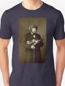 Chimp with a violin Unisex T-Shirt
