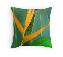 Orange on green with a little bit yellow Throw Pillow