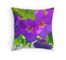 Nature creation in deep purple and blue with a little bit of green Throw Pillow