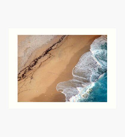 Lick the sand Art Print