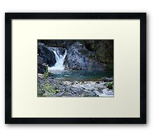 Starved waterfall Framed Print
