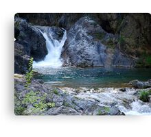 Starved waterfall Canvas Print