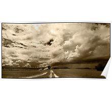 Monsoon Sky, Near Ingham FNQ Poster