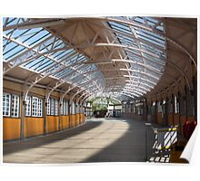 Inside Wemyss Bay Train Station , Inverclyde Poster