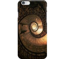 Ornamented spiral staircase in brown tones iPhone Case/Skin
