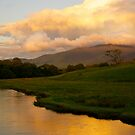 Skiddaw, The River Derwent And The Derwent Valley. by Lou Wilson