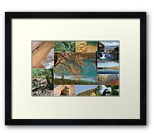 Peaceful landscapes of Greece Framed Print