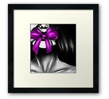 The Gift - Purple Framed Print
