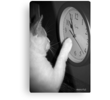 Time Marches Metal Print