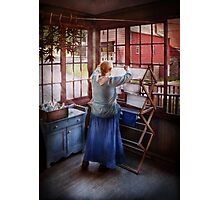 Laundry - Miss Lady Blue  Photographic Print