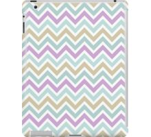 Pastel Green And Pink Classic Chevron Pattern 2 iPad Case/Skin