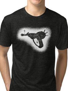 Sketchy Ray gun white version Tri-blend T-Shirt