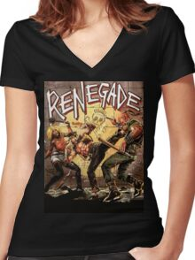 Renegade Women's Fitted V-Neck T-Shirt