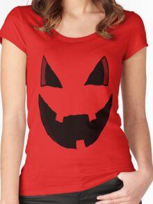 Evil Pumpkin Face  Women's Fitted Scoop T-Shirt