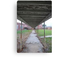 entrance to abandoned school Canvas Print