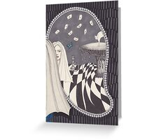 Looking Glass Alice Greeting Card