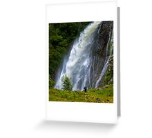 The Aber Falls in Wales Greeting Card