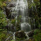Waterfall, Medenhall Glacier Alaska by JMChown