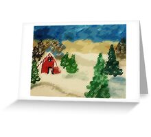 Snowed in, watercolor Greeting Card