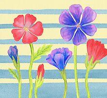 Baby Blue Flower Bed by Irina Sztukowski