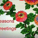 Chrysanthemum Greetings by George Hunter