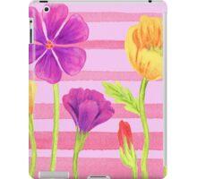 Happy Flowers In The Garden iPad Case/Skin