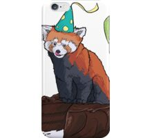 Red Panda Party iPhone Case/Skin