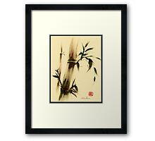 """Calm""  Sumi e bamboo painting Framed Print"