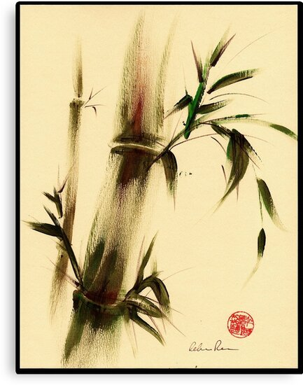 """""""Calm""""  Sumi e bamboo painting by Rebecca Rees"""