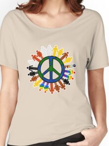 WORLD PEACE_GLOBE  Women's Relaxed Fit T-Shirt