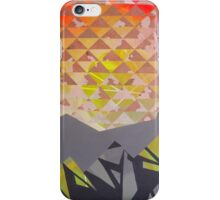 Mountain Landscape 1 - inspired by mountain landscapes, geometry. acrylic and ink on wood iPhone Case/Skin