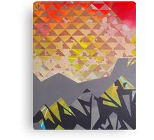 Mountain Landscape 1 - inspired by mountain landscapes, geometry. acrylic and ink on wood Canvas Print