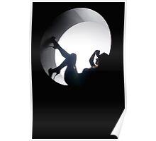 Stiletto Silhouette Poster