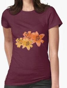 Gorgeous yellow and orange tiger lily flower photo art. Womens Fitted T-Shirt