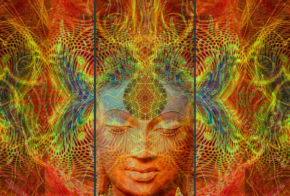 Buddha Tryptich by Bill Brouard
