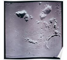 Apollo Archive 0095 Moon Craters and Patterns from Orbit Poster
