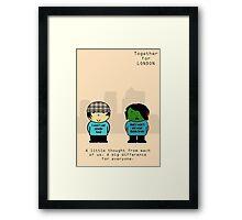 Chav & Zombie TFL Poster Framed Print