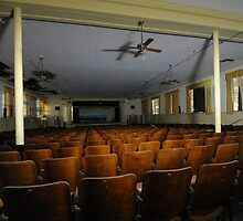 auditorium in abandoned school by ashley hutchinson