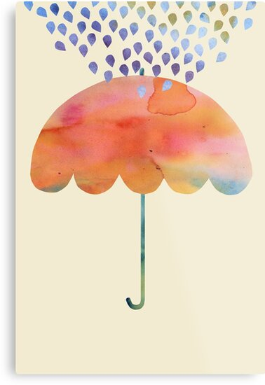 Rainbow Umbrella by SuburbanBirdDesigns By Kanika Mathur