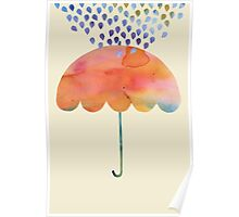 Rainbow Umbrella Poster