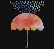 Rainbow Umbrella Baby Tee