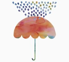Rainbow Umbrella One Piece - Short Sleeve