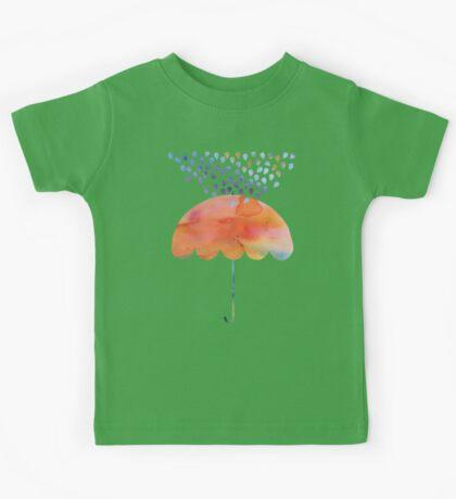 Rainbow Umbrella Kids Tee