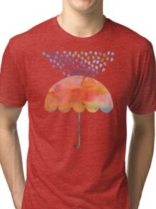 Rainbow Umbrella Tri-blend T-Shirt