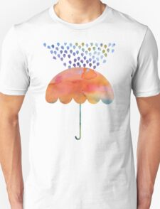 Rainbow Umbrella Unisex T-Shirt