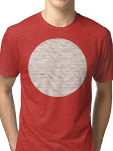 Crinkled lined paper Tri-blend T-Shirt