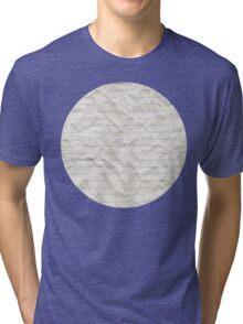 Crinkled lined paper Tri-blend T-Shirt